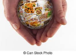 cuisine mondial cuisine collage globe globe collage of lots of stock
