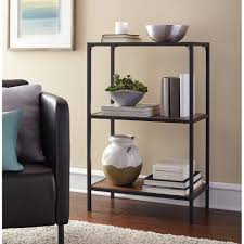 Sauder 3 Shelf Bookcase by Mainstays Metro 3 Shelf Bookcase Warm Ash Finish Walmart Com