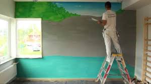 wall painting waterfall youtube