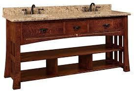 amish bathroom vanity cabinets 72 mesa mission double bathroom vanity cabinet with inlays