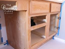 How To Gel Stain Cabinets by The Creative Cubby Diy Gel Stain Cabinet Makeover