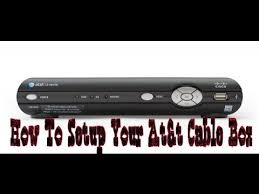 how to setup your at u0026t u verse cable box youtube