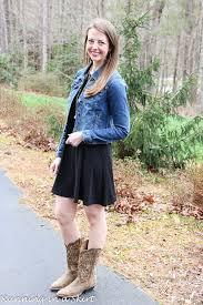 fashion friday u2013 black swing dress u0026 fitted denim jacket running