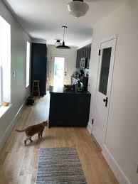 Wood Floor In Powder Room - galley kitchen u0026 powder room