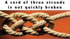 3 cords wedding ceremony ecclesiastes 4 9 12 cord of three strands