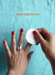 remove dark nail polish stains artifact