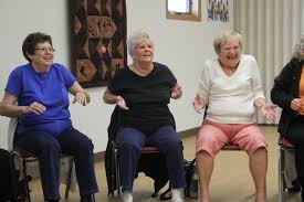 Chair Dancing The Key Is To Have Fun U0027 Seniors Stay Active With Chair Line