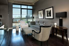 Gray And Beige Living Room by Dark Floor Gray Wall Houzz