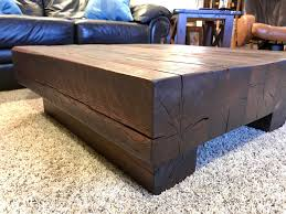 Stained Coffee Table Timber Coffee Table Made From 6x6