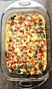 cooking light breakfast casserole carb bacon egg and spinach breakfast casserole