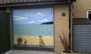 unique garage door murals ideas
