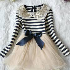 canes stripe dress navy blue for toddler