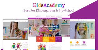 play school brochure templates kidsacademy kindergarten school html template by labartisan