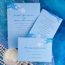 winter themed wedding invitations printable snowflake blue winter wedding invitation