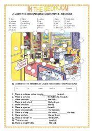 Bedroom Things English Teaching Worksheets The Bedroom