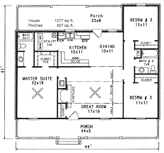 Two Bedroom Cottage House Plans Cabin Style House Plan 3 Beds 2 00 Baths 1277 Sq Ft Plan 14 140