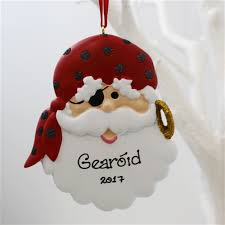 personalised ornament pirate santa personalised