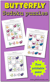 butterfly sudoku puzzles free printables gift of curiosity