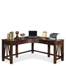 Corner Desk Furniture Castlewood Curved Corner Desk By Riverside Home Gallery Stores
