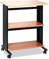 amazon com side desk shelves bookcase on wheels kitchen u0026 dining