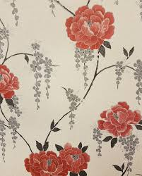 grey wallpaper with red flowers graham brown super fresco elizabeth floral vinyl wallpaper