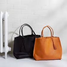 Handmade Leather Tote Bag - bubo handmade everyday leather tote bag west elm