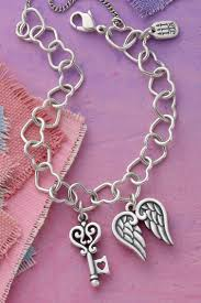 heart link charm bracelet images Our connected hearts charm bracelet features little links of love jpg