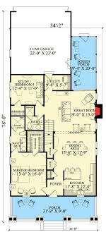 narrow lot house plans craftsman plan 32608wp beautiful detailing and an open layout open layout
