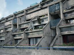 build a miniature brutalist london out of paper