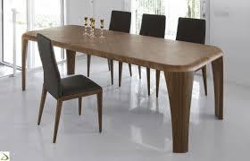 tavoli per sala da pranzo moderni tavolo con piano in legno curvo igor arredo design