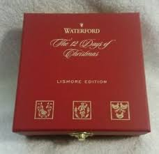 waterford 12 days of ornaments ebay