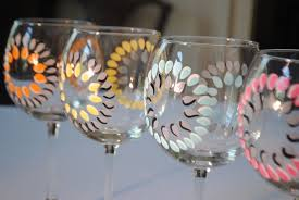 wine glass painting hand painted wine glasses ideas the greatest glass painting