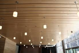 Wood Slat Ceiling System by Gallery Architectural Surfaces