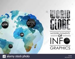 Map Of The Earth Vector World Globe Triangular Map Of The Earth Stock Vector Art