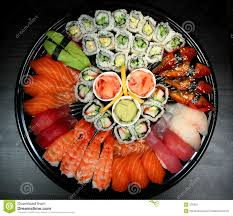 sushi party tray royalty free stock photography image 375087