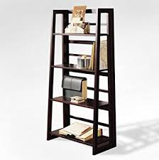 amazon com dolce 4 shelf folding bookcase dark walnut kitchen