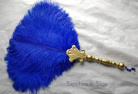 feather fan elspeth renaissance feather fan sapphire renaissance