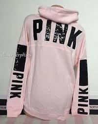 secret pink sweater s secret pink light pink black bling cowl neck pullover