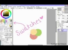 sai paint tool the swatches youtube