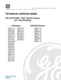 ge hotpoint electric range service manual applianceassistant com