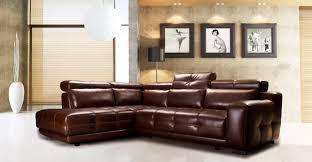 Large Brown Leather Sofa Furniture Light Brown Leather Corner With White Leather
