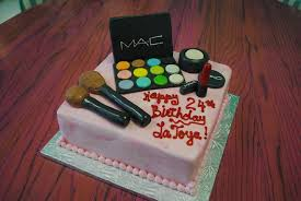specialty birthday cakes mac makeup cake ideas style by modernstork