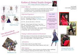 Resume For Fashion Designer Job by Resume Fashion Designer Profile Virtren Com