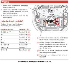 honeywell heat pump thermostat wiring diagram and attachment with