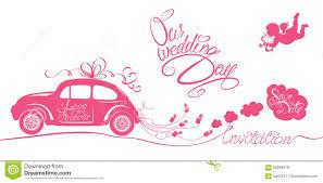 funny wedding car stock illustration image 66994580