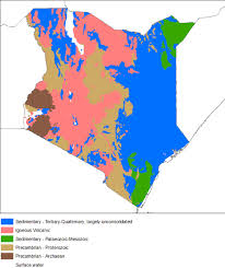 geographical map of kenya hydrogeology of kenya earthwise