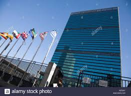 Flag Of New York City United Nations Building With Members U0027 Flags New York City Usa