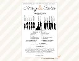 free tri fold wedding program templates one page wedding program template template business