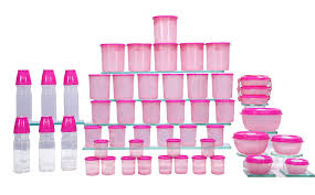 buy princeware 50 pcs multi utility container set pink online at