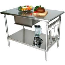 metal kitchen island tables stainless kitchen islands view in gallery threshold stainless steel